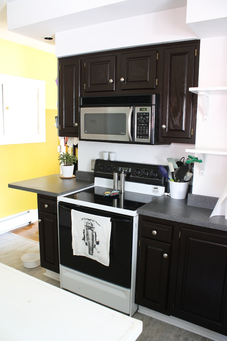 refinish oak cabinets with stain kitchen cabinet stain Wow talk about a different kitchen