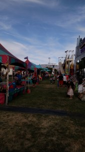 Over 30 vendors should be present at this year's Mesquite Days event. Although the setup won't be on grass this year, the layout of the booths, rides and games should prove favorable for all involved. Photo by Stephanie Frehner.