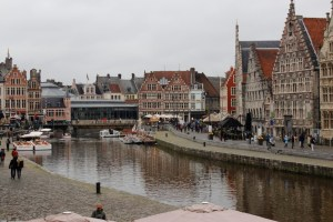 Boat Tours n Ghent, Belgium begin in the old medieval city center.