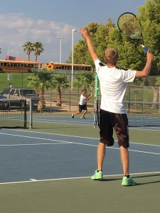 Seniors Captain Ryan Rushton leads Bulldogs to an easy win over Sun Devils, going 3-0 in sets. Photo by Coach Felix