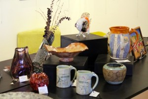 The Mesquite Fine Art Invitational brought in art in a variety of mediums including clay, glass and dry flowers. Photo by Teri Nehrenz
