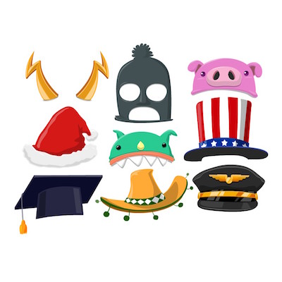 hat stickers for iOS message apps