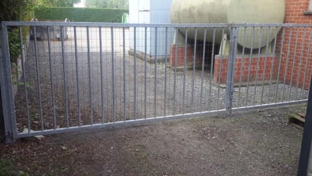 gegalvaniseerde poort