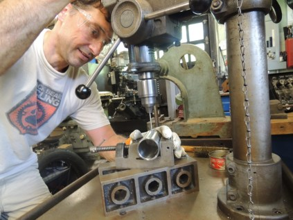 drilling vent holes
