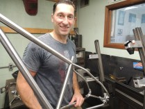 Vlad with tacked frame