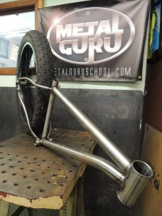 welded frame with big tire