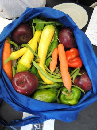 good students bring the instructors some fruit and veggies