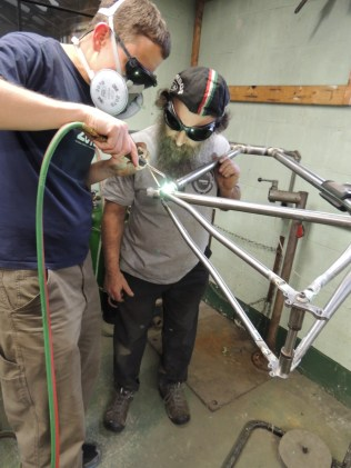 Rob fillet brazing seat tube