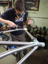 Rob tinning top tube to head tube