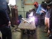 Frank welds front triangle