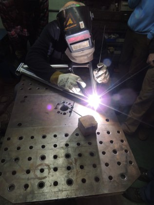 Frank welds front triangle 3