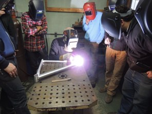 Frank welds front triangle 4