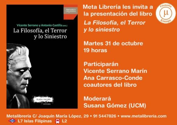 Presentación Filosofía Terror y lo Siniestro WEB