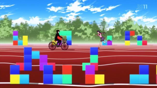 Hanamonogatari 01 Ougi Fixie Bike