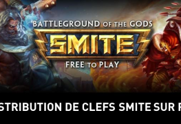 Distribution clefs alpha beta smite sur PS4 screen1