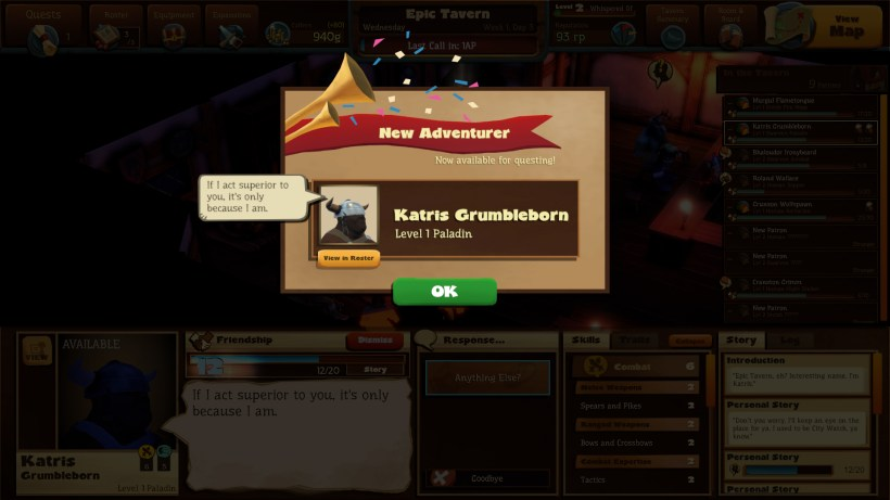 Preview Test Epic Tavern simulateur de taverne sur Steam1147