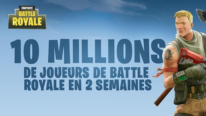 10 millions de joueurs fortnite battle royale pc ps4 xbox one