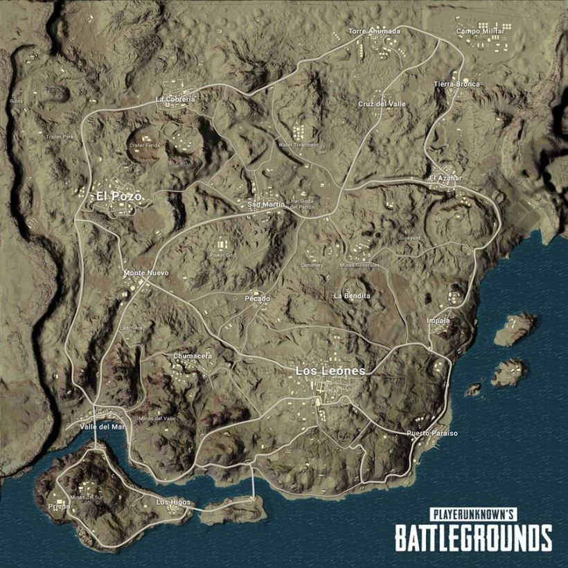 minimap Miramar screen PUBG 12