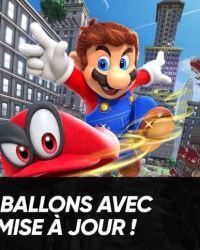 Mise à jour Super Mario Odyssey date de sortie luigi