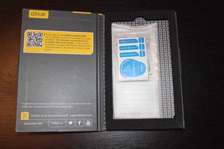 Test Protection d'écran incurvée Samsung Galaxy S6 Edge, Verre Trempé givrée 1