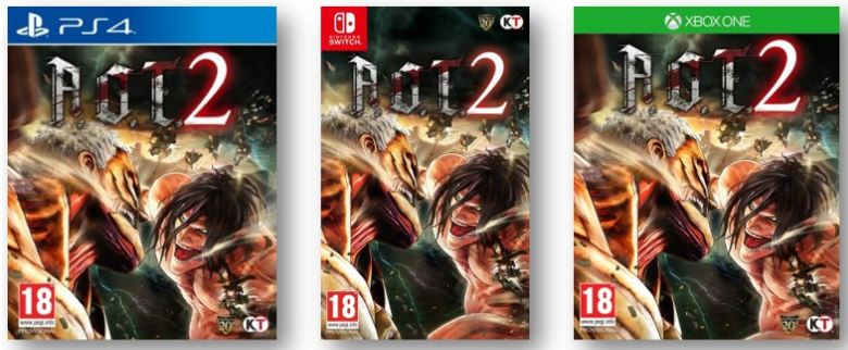 A.O.T.2 steelbook exclusif bonus précommande ps4 xbox one switch