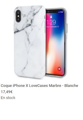 coques et protections Mobile Fun iPhone X screen2