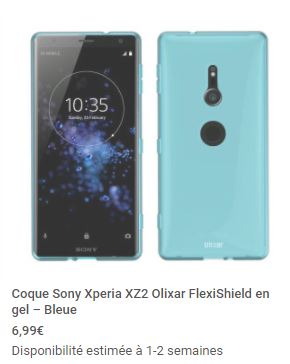housse officielle Sony Xperia XZ2 mobile fun 18