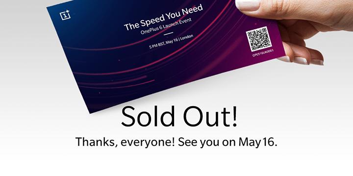 OnePlus 6 : présentation officielle (déjà sold out) à Londres le 16 mai