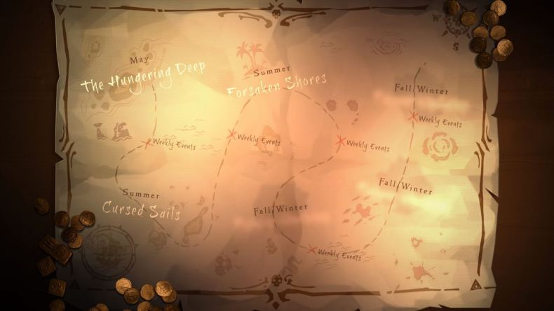 planning mises à jour à venir sur Sea of Thieves