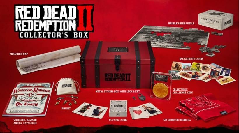 Les éditions collector Red Dead Redemtpion PS4 Xbox One précommandes coffret du collectionneur
