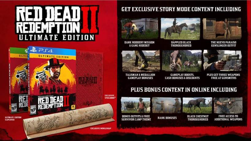 Les éditions collector Red Dead Redemtpion PS4 Xbox One précommandes1