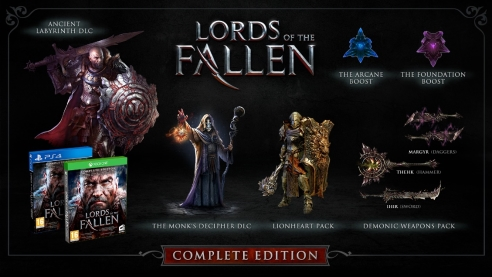 Lords of fallen complete edition ps4 xbox one contenu