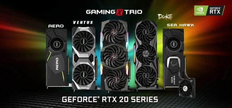 carte graphique MSI Geforce RTX 20 series