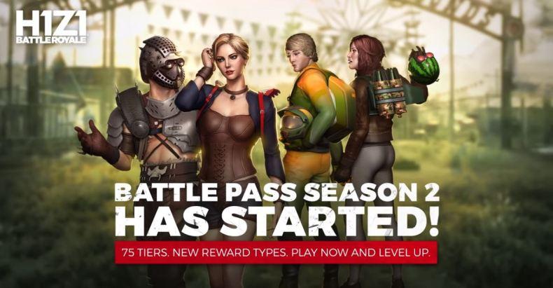 H1Z1 Battle Pass Season 2 PS4 recompenses rewards