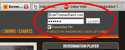 ReverbNation login