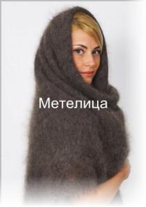 Оренбургский пуховый платок среднего размера. Тёмно-серый цвет.