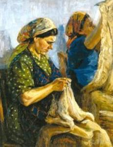 «Оренбургские пуховницы». Картина А.И.Овчинникова .