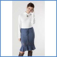 Хорошенькая синяя юбка