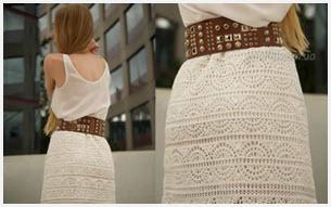 Летняя ажурная белая юбка