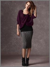 Тёмно-серая юбка на фото