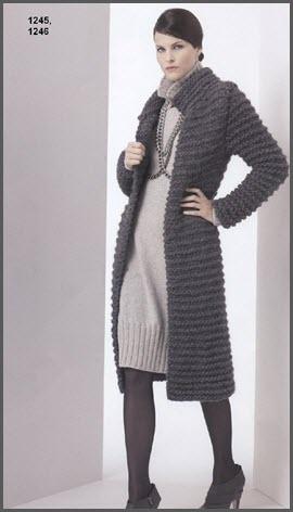 Строгое вязаное пальто