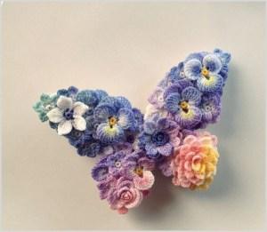 Брошка бабочка нарядная