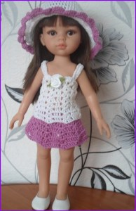 Кукла в летней шляпке