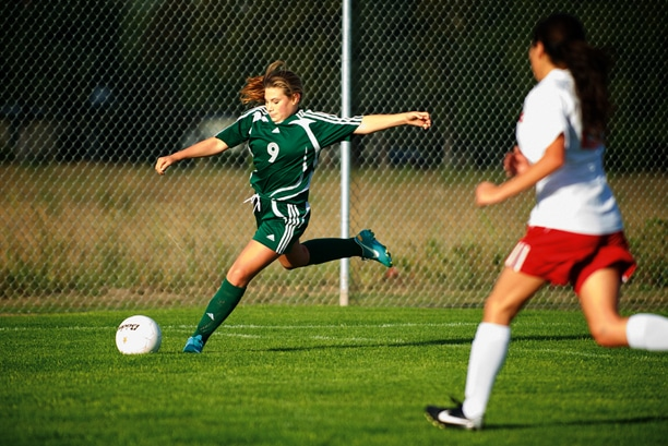 Eighth grade defender Anna Post deflects the ball during play against Brewster last Thursday. The Lady Lions won the game 6-3. Photo by E.A. Weymuller