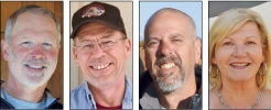 L – R: Rick Northcott, Vern Herrst, Mike  Strulic, Sue Langdalen