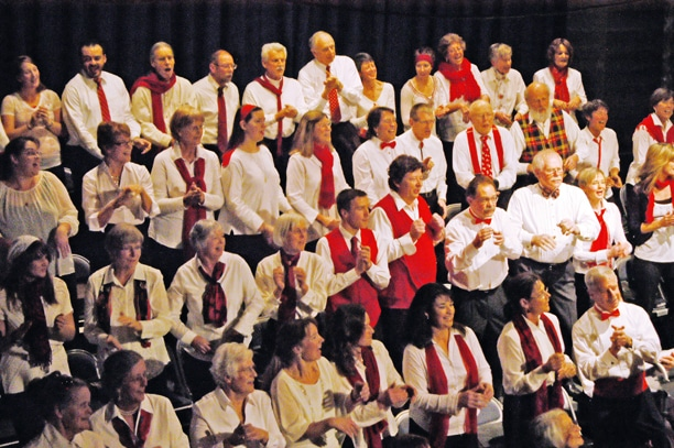 The Cascadia Chorale performed in two holiday concerts at the Methow Valley Community Center. Photo by Ann McCreary