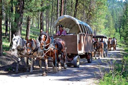 Some of this year's Ride to Rendezvous guests will be catching a ride in a wagon, while others will join the adventure on horseback. File photo by Laurelle Walsh