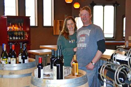 Meghan Sullivan and Dave Swenson own the Wine Shed. Photo by Laurelle Walsh