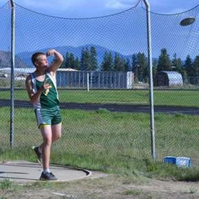 Bryce Tillman lets the discus fly. Photo by Laurelle Walsh