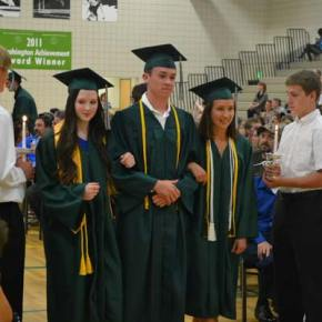 Taylor Curtiss, Riley Dickinson and Olivia Eckblad walk the walk. Photo by Laurelle Walsh
